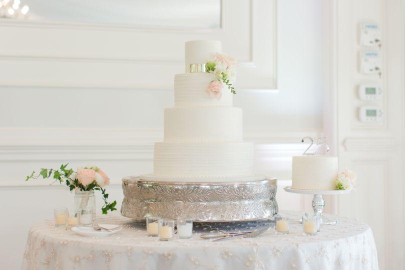 Wedding Cake Display at Highgrove Estate wedding
