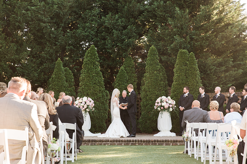 Wedding Ceremony at Sutherland Estate and Gardens, Wake Forest NC, Southern Love Studios