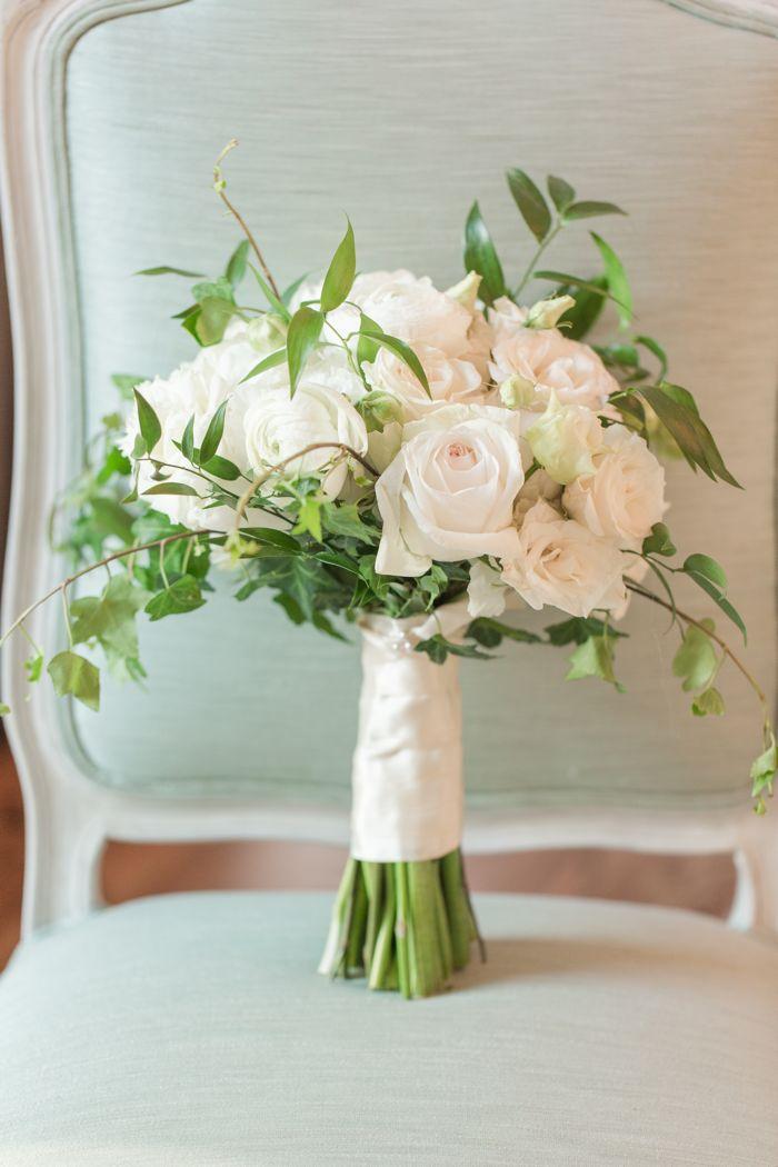 White Bridal Bouquet Jamie Blow Photography