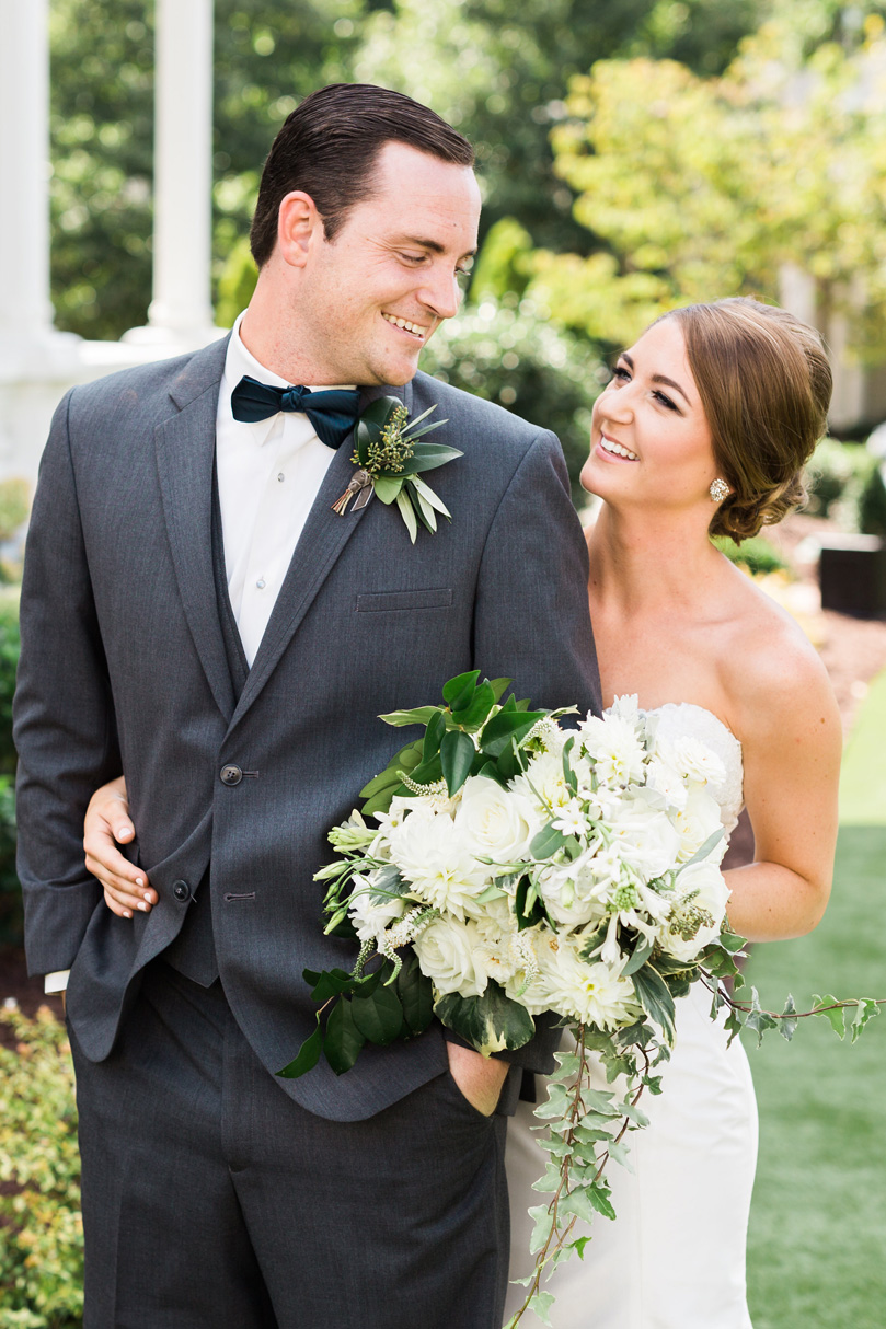 Must have photo of bride and groom at wedding at The Merrimon Wynne by Gather Together, Melissa Delorme