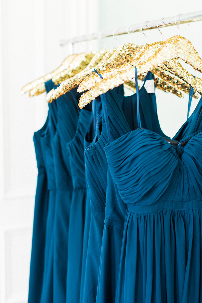Navy Bridesmaid dresses by Wedding Way with Sequin Hangers Melissa Delorme