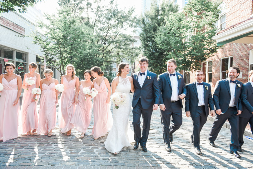 Blush and navy wedding in downtown raleigh wedding at market hall Missy Loves Jerry Photography_1