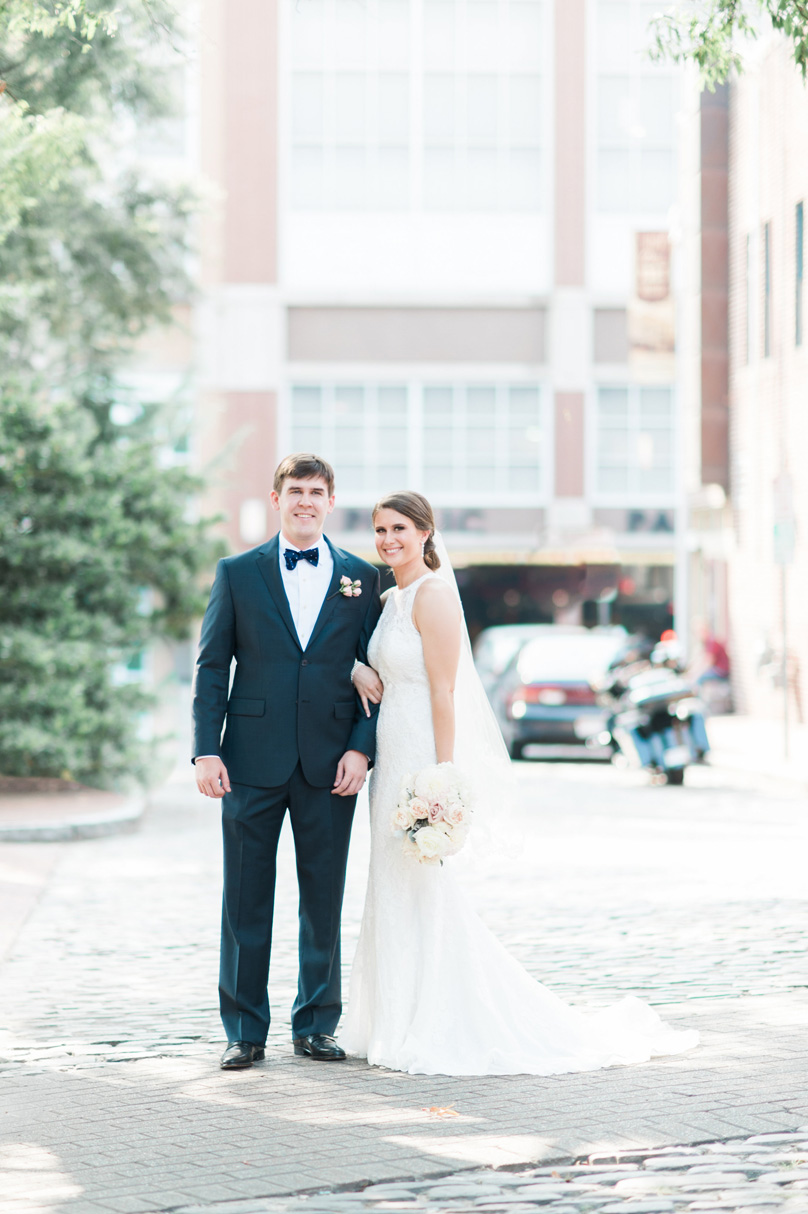 Bride and Groom in downtown Raleigh Wedding Missy Loves Jerry Photography