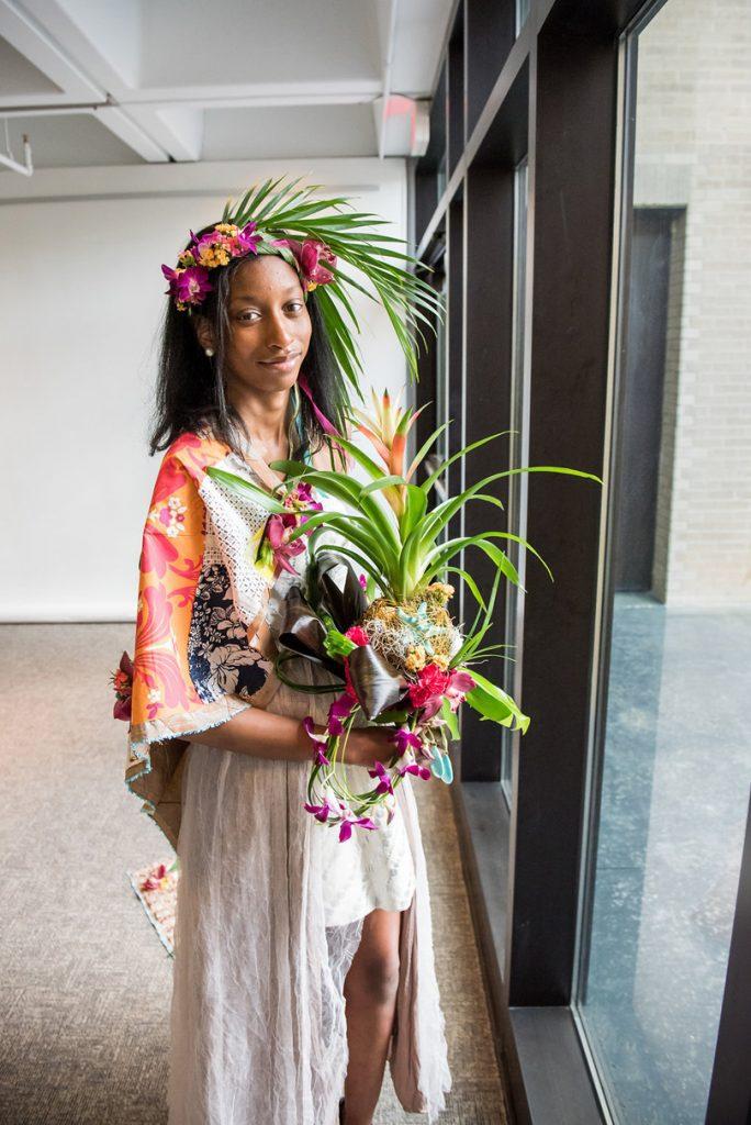 English Garden Bride Inspired Tropical Fashion Design at NCMA Art in Bloom 2017 f8 Photo Studios