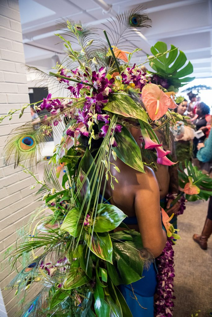 Tropical and Feather Floral Headpiece at Art in bloom 2017 f8 Photo Studios