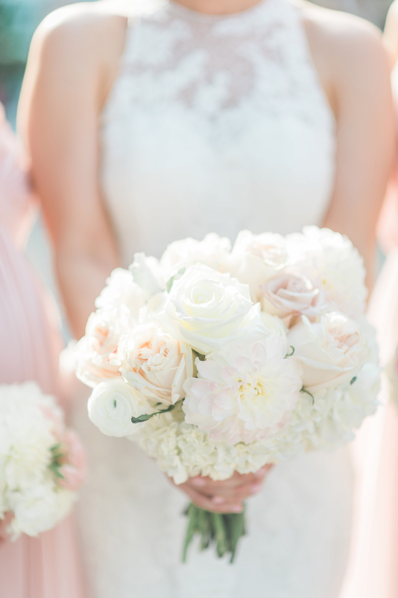 White and pale blush by Raleigh NC florist Victorian Seasons Missy Loves Jerry Photography