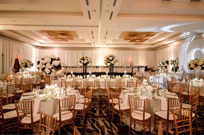 Ballroom classic white an gold wedding at Raleigh Marriott City Center In His Image