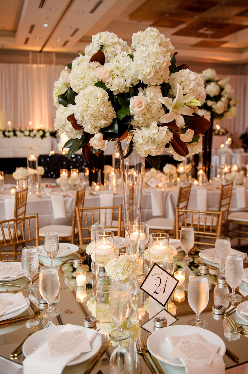 Fresh Affairs Tall White Floral Wedding Arrangements at Raleigh Marriott City Center In His Image