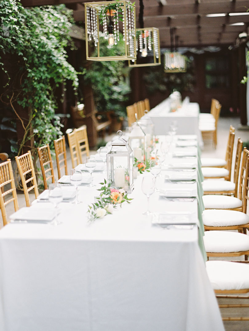 Outdoor wedding with crystal geometric lights Casey Rose_1