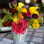 Bright local flowers by Ninth Street at The Cookery by Robin Lin