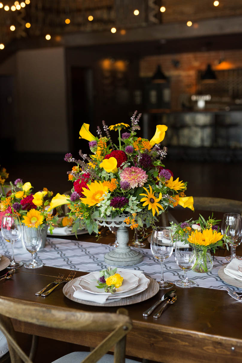 Summer Yellow Florals by Ninth Street at The Cookery by Robin Lin