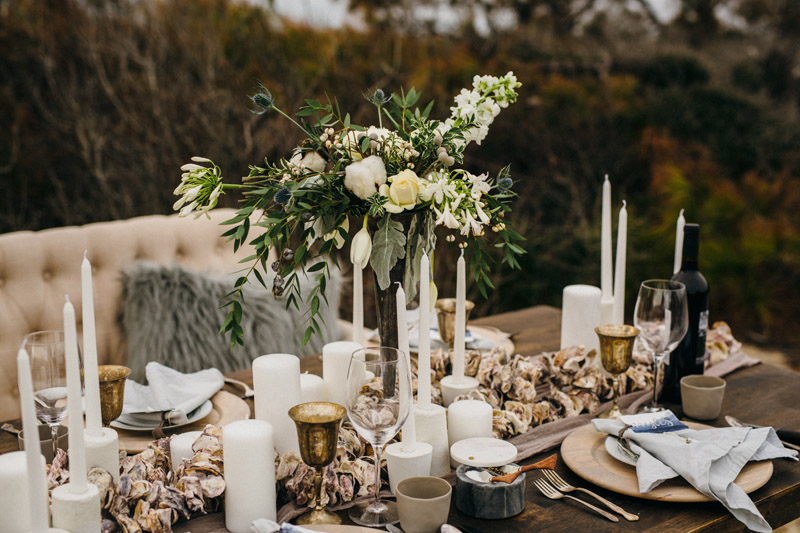 Intimate Winter Beach Wedding Inspiration Southern Bride