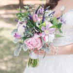 Pink and Purple Bridal Bouquet with succulents by University Florist, Jamie Blow