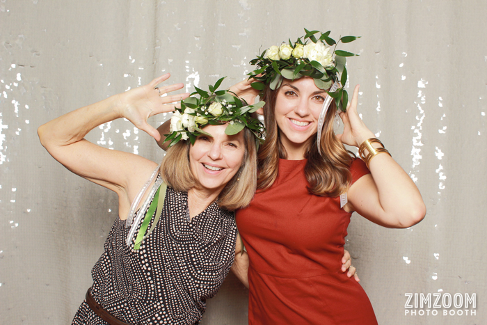 Donna Parks and Jenna Parks Southern Bride and Groom Magazine NC Weddings Publishers in ZimZoom Photo Booth