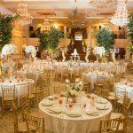 Gold wedding reception at The Grand Marquis ballroom in Garner, NC