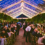 Lit Tented Wedding Reception at Durham Duke Gardens Wedding Reception by Grace Leisure Events, Carolyn Scott