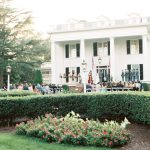 Wedding Ceremony on front porch of plantation venue, Rose Hill