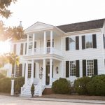 Historic Sutherland Estate in Wakeforest at Sunset