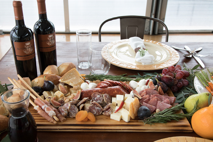 Tuscany Inspired Charcuterie by Raleigh wedding caterer, Heba Selama