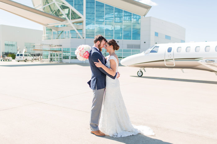 Airport Wedding PHotos in RAleigh Airport hanger, Unique NC Wedding Venue, Cor PHotography