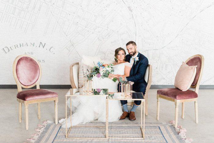Bride and Groom Wedding Portraits at Durham Wedding Venue Pine and Poplar, Radian Photography4