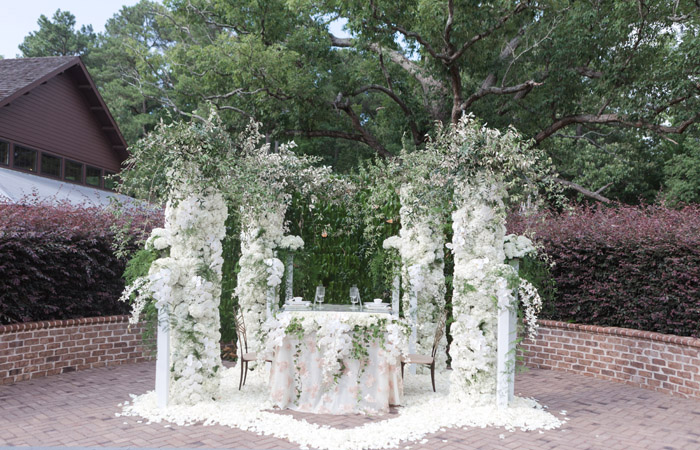 Raleigh Wedding Florist Fresh Affairs All White Wedding Reception Decor, Jamie Blow