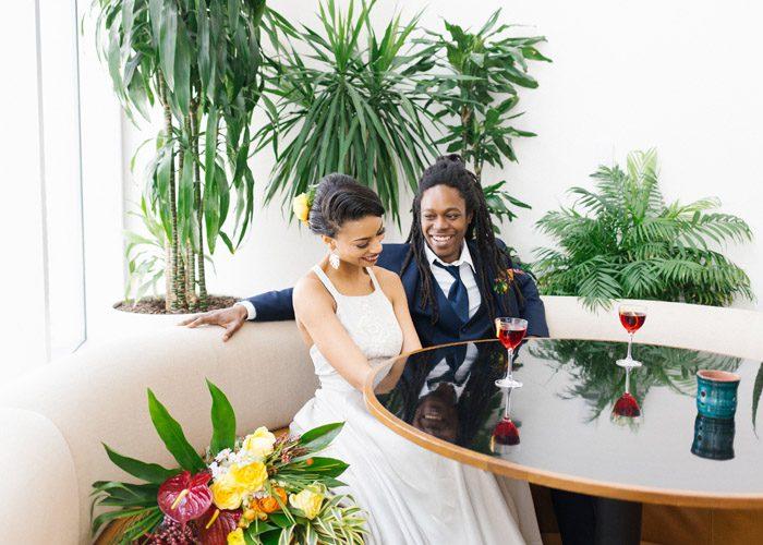 Tropical Modern wedding at Durham Hotel, L'amourFoto