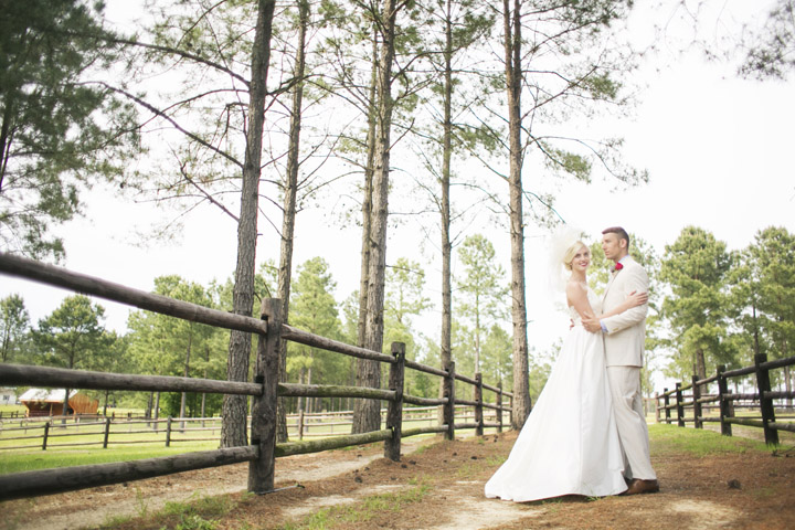 Bride and Groom Strolling at Portofino, one of the Rustic Wedding Venues in NC
