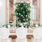 Modern wedding with Greenery wall by chapel hill wedding planner kast events and company