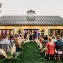 Ceremony at The Big Fake Wedding Raleigh at Merrimon Wynne House by Morgan Caddell Photography