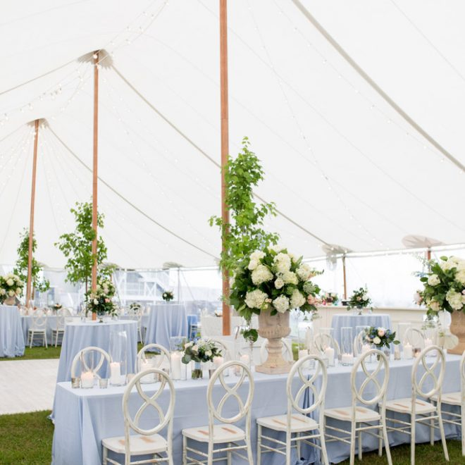 Green Blue and White Southern wedding in Sailcloth Tent from Party Reflections