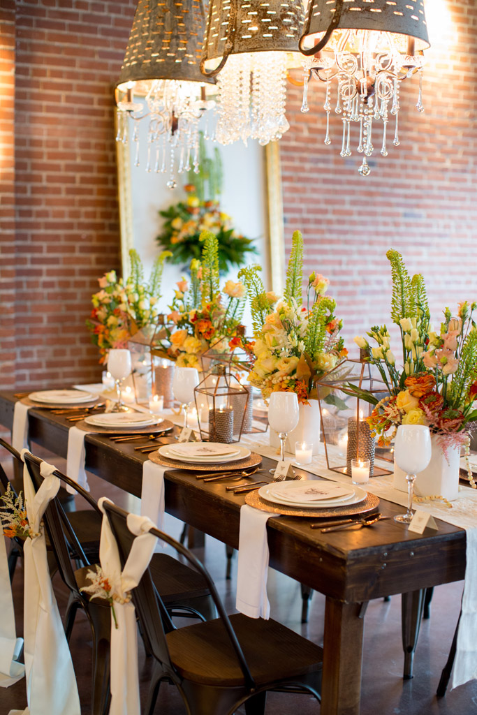 Citrus Tablescape In Green Orange And Yellow Wedding Flowers Sb G