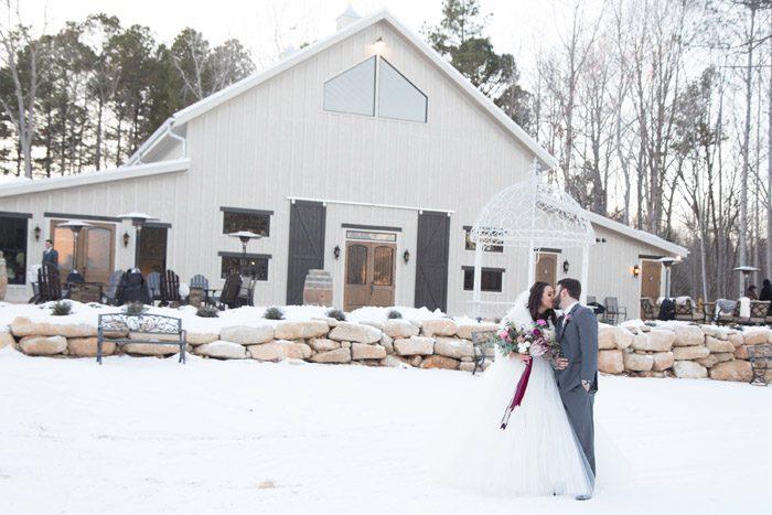 Snow Wedding At Lavender Oaks Farm In Chapel Hill Sb G Magazine