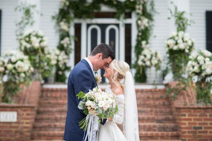 Summertime Wedding Rose Hill Nc Bride And Groom