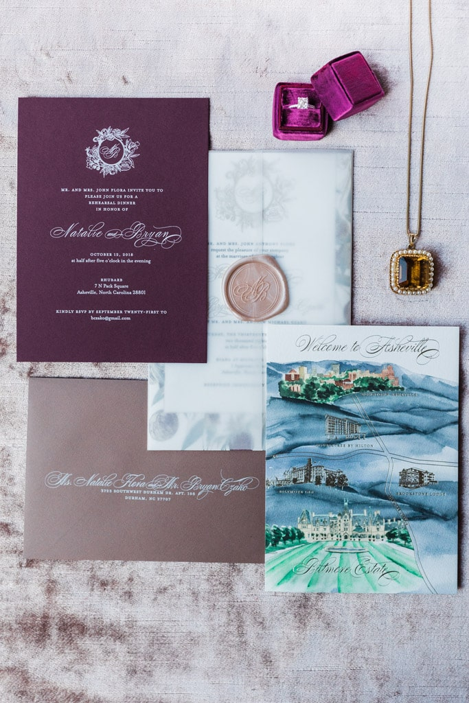 Custom Wedding Invitations and Stationery in Raleigh NC