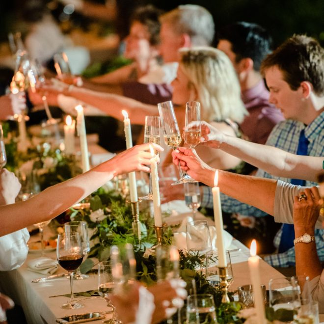 Toast Outdoor Wedding Reception Party Six Ways to Include Family in Your Wedding The Bradford Raleigh Venue CE Rental f8 photo
