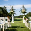 Outdoor Wedding Ceremony Pinehurst Resort Chalas Wedding f8 photo studios