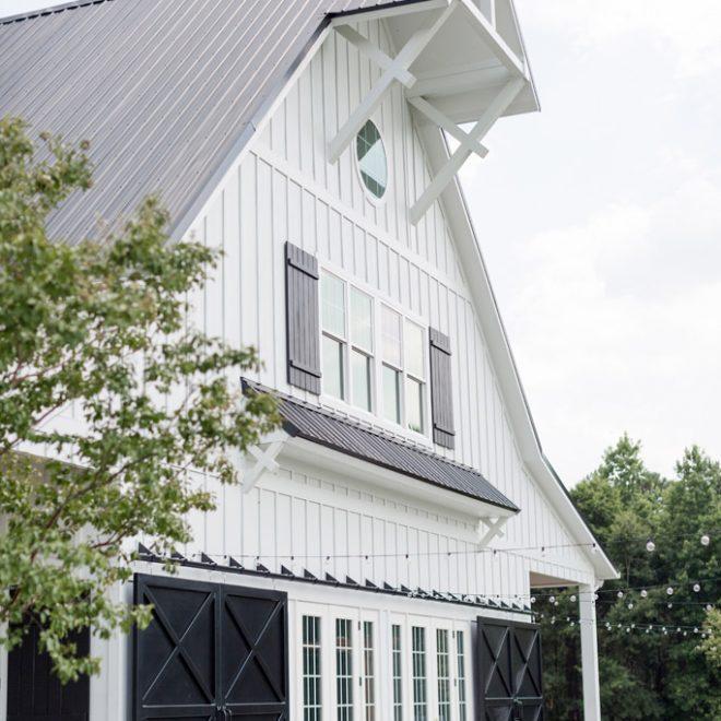 The Carolina Barn Entrance Rustic Farm Wedding Venue NC Six Foot Photography 2