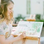 This Creative Nest Live WEdding Painting Watercolor Art Gift Molliner Photography