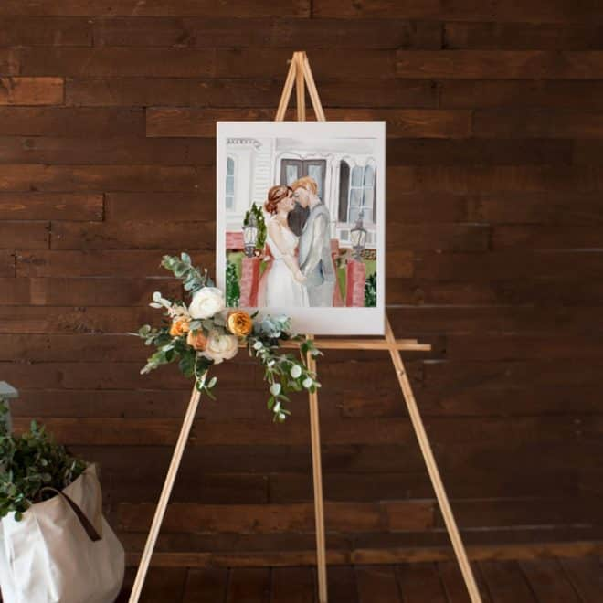 This Creative Nest Live Wedding Painting Bride Groom Portrait Watercolor