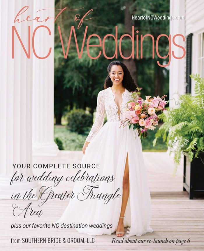 Heart of NC Weddings new name reveal, cover by Danielle Flake Photography