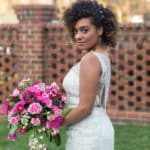 Beautiful Gavin Christianson Bride in Wedding Dress Wedding Inspiration at The Matthews House Cary, NC Southern Belle