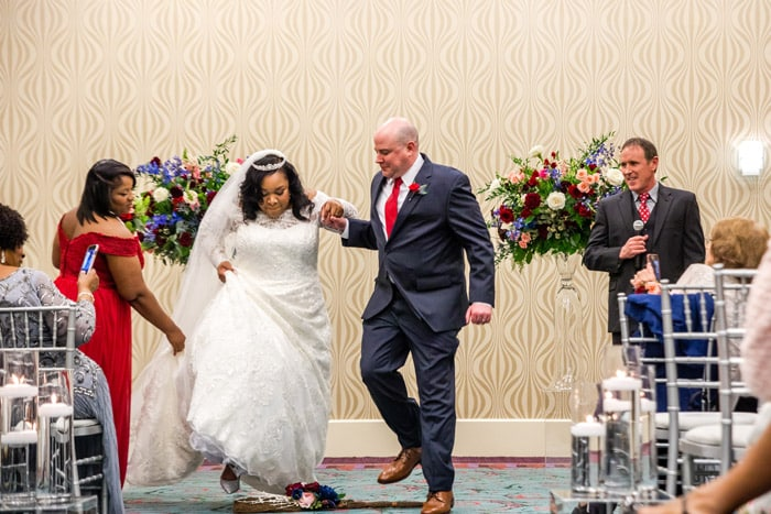 Raleigh Couple S History Wedding Includes Jumping The Broom Tradition