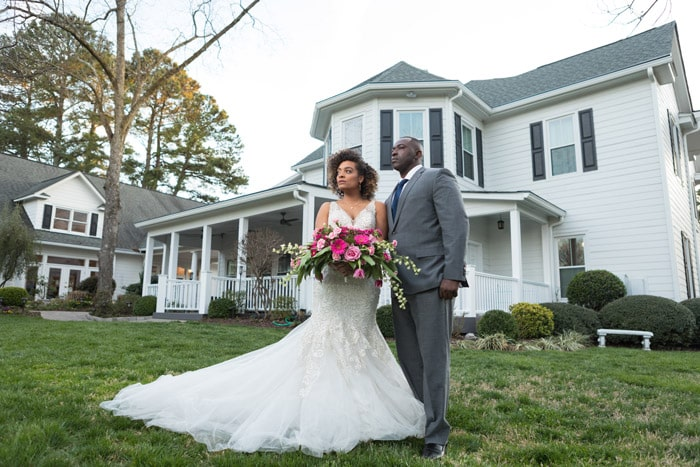 Elegant Southern Bride and Groom Wedding Inspiration at The Matthews House Cary, NC Southern Belle