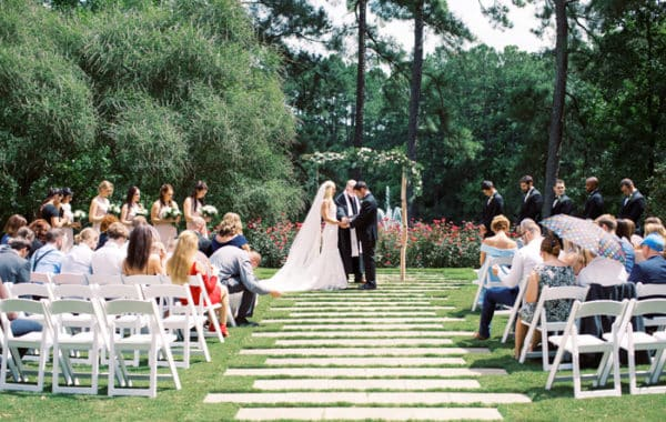 Outdoor Ceremony Space Wedding at The Umstead Hotel and Spa Cary Wedding Venue Blissmore Photography