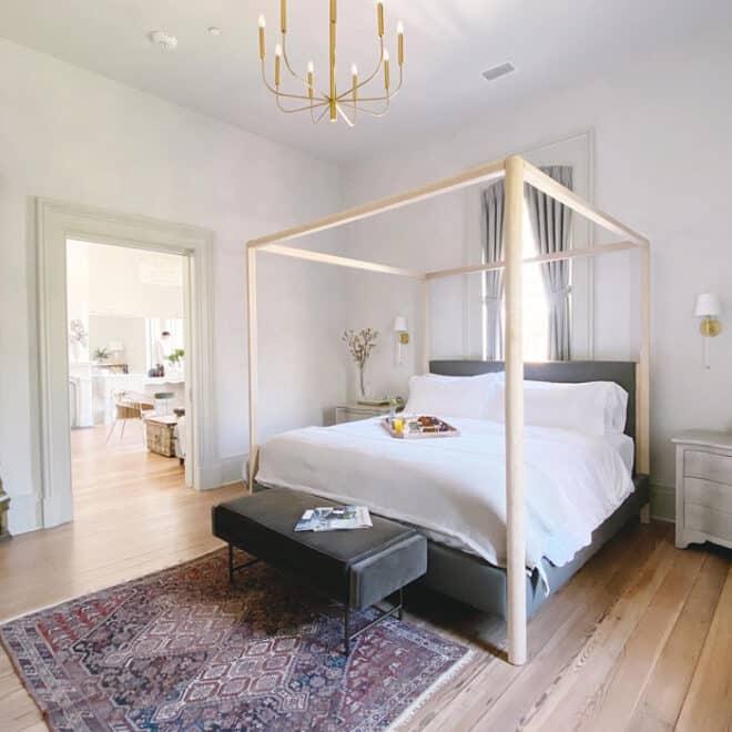 Luxury Guest Bedroom Heights House Hotel, A Historic Raleigh Landmark and Wedding Venue Sarah Shepherd
