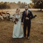 Bride and Groom with Sheep Mark Maya Photography Durham Wedding Photographer and Videographer