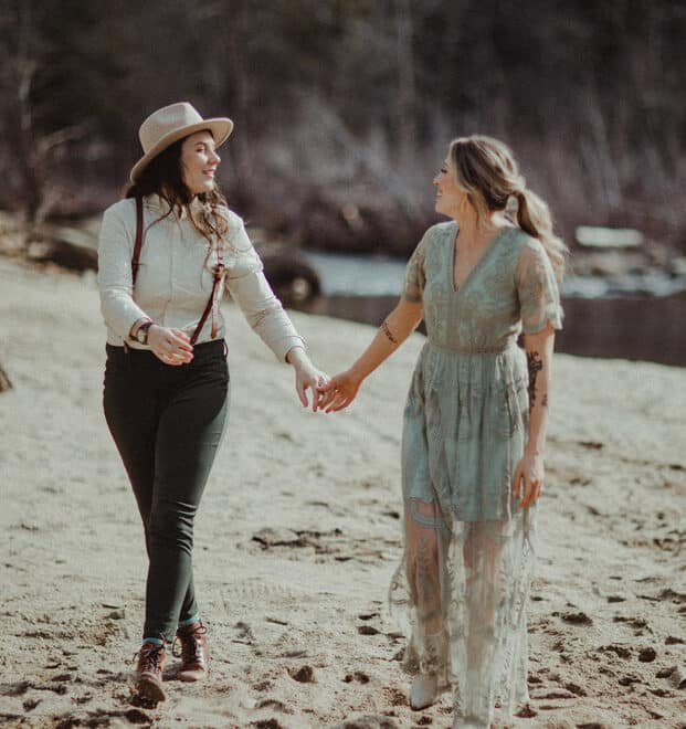Two Brides Elopement Brown Mountain Beach Resort Mark Maya Photography Durham Wedding Photographer and Videographer