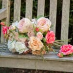 FauxReal Flowers – Raleigh Florist with Affordable, Faux Arrangements Pink and Peach Bouquet