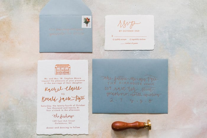 Personalized Wedding venue sketch House portrait Illustrated wedding invite Engagement Calligraphy Custom watercolor Save the Date
